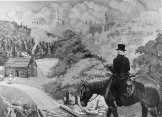 Imagen de un jinete de circuito, cortesía de la Comisión General de Archivos e Historia de La Iglesia Metodista Unida, Universidad Drew.