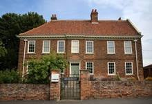 """The Old Rectory in Epworth, England was built in 1709 following the """"Great Fire"""" and was the home of John and Charles Wesley along with their parents and siblings. Photo by Kathleen Barry, United Methodist Communications."""