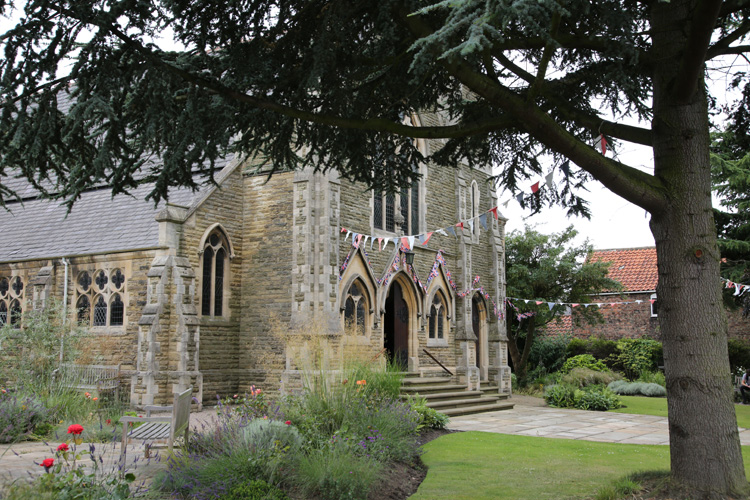 Exterior view of Wesley Memorial Methodist Church in Epworth, England. Photo by Kathleen Barry, United Methodist Communications.