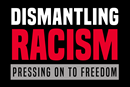 """Official logo for The United Methodist Church's """"Dismantling Racism: Pressing on to Freedom"""" initiative. (Image created by United Methodist Communications.)"""