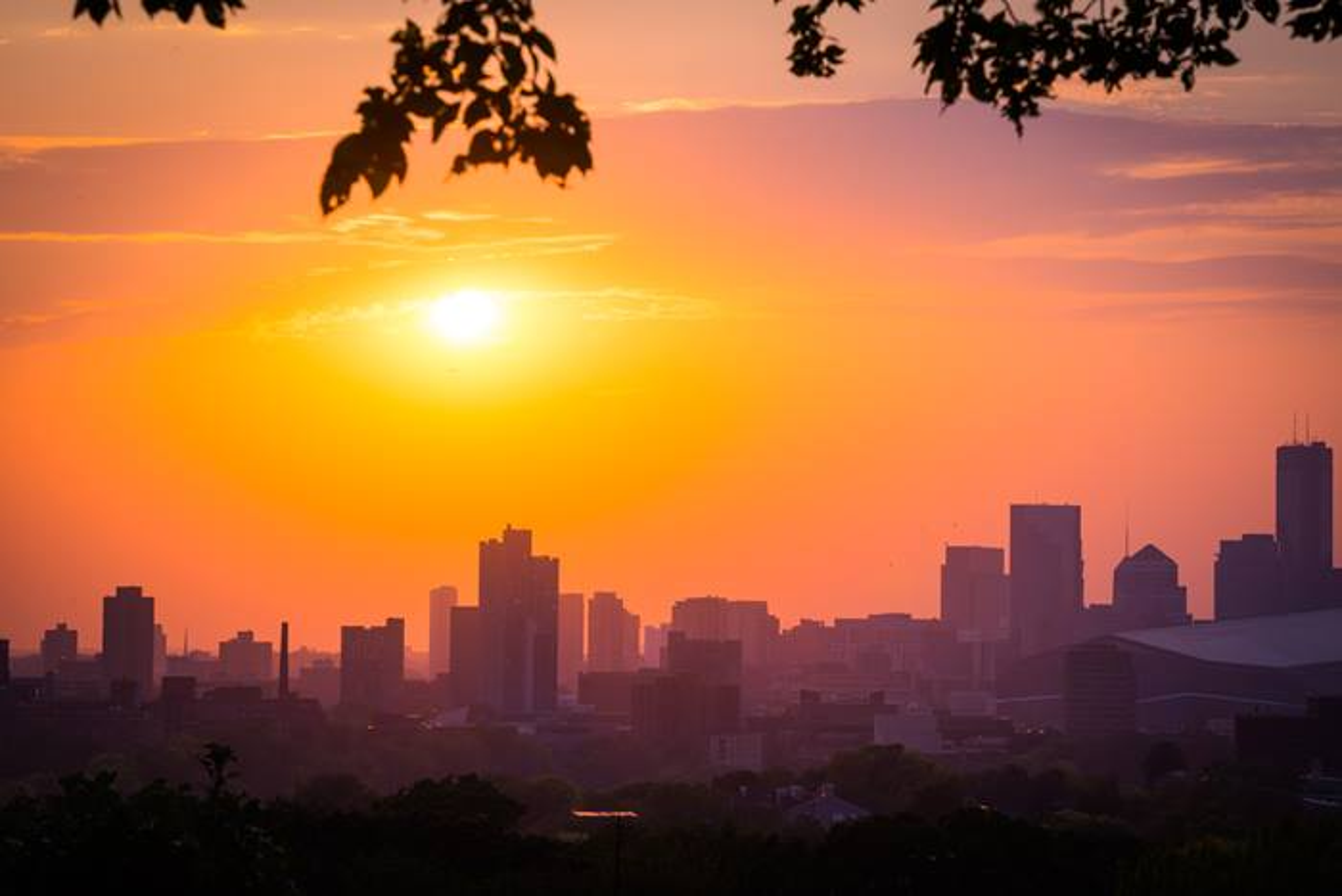 Minneapolis Minnesota skyline at sunset