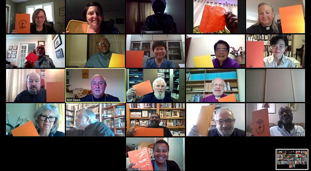 Screen shot of WCC executive committee in a Zoom meeting