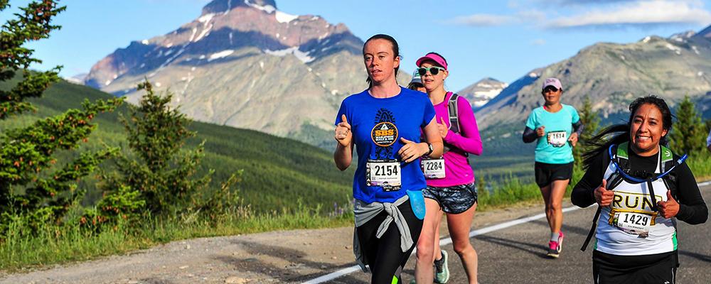 Hannah Hatheway running in a marathon. Courtesy photo.