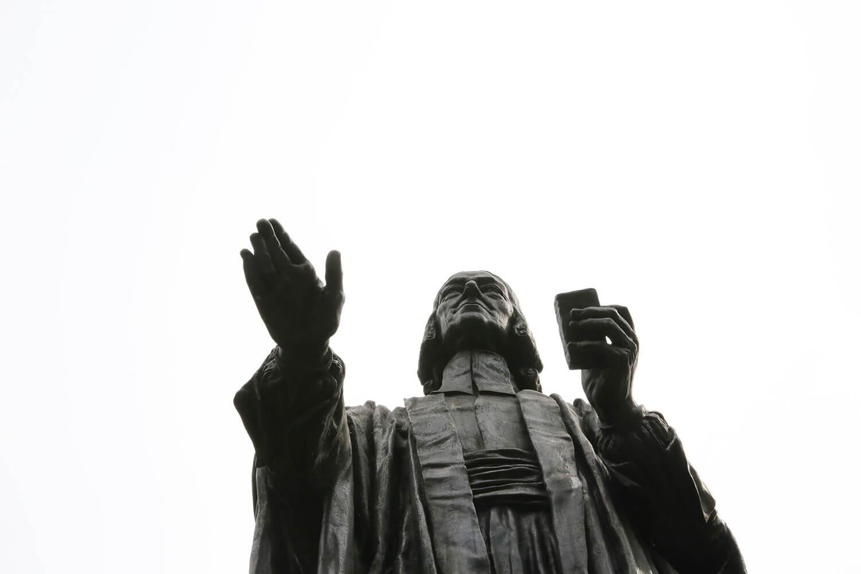 John Wesley statue in London.