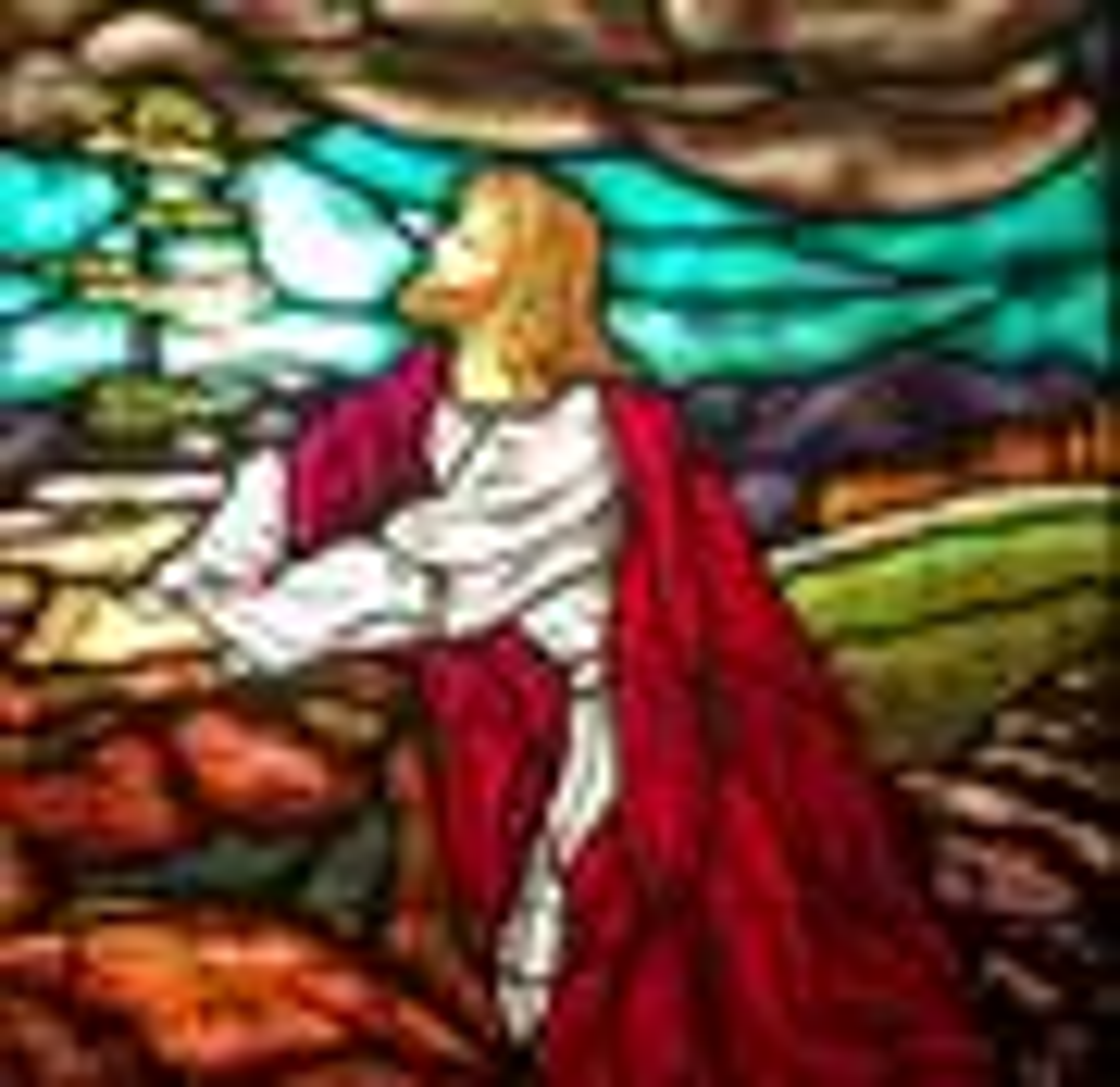 Photo de vitrail à Epworth au bord de la mer. Photo de Diane Degnan, United Methodist Communications.