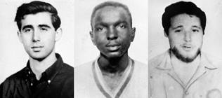 James Chaney, an African-American man (along with Mickey Schwerner, who worked with Chaney at the Congress for Racial Equality, and Andrew Goodman, college student volunteering with CORE), were murdered by white supremacists and dumped in an abandoned dam near Philadelphia, Mississippi, in the summer of 1964. The search for them led to the discovery of the bodies of eight other Black men-activists, also murdered by white supremacists. (Photo courtesy of the Associated Press)