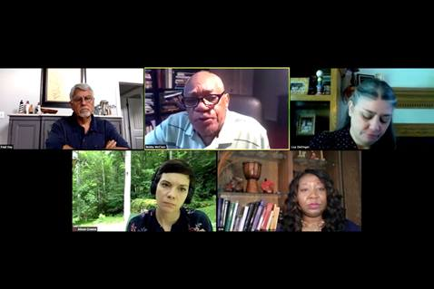July 1, 2020 Dismantling Racism Town Hall featured United Methodist experts. Screenshot of video.