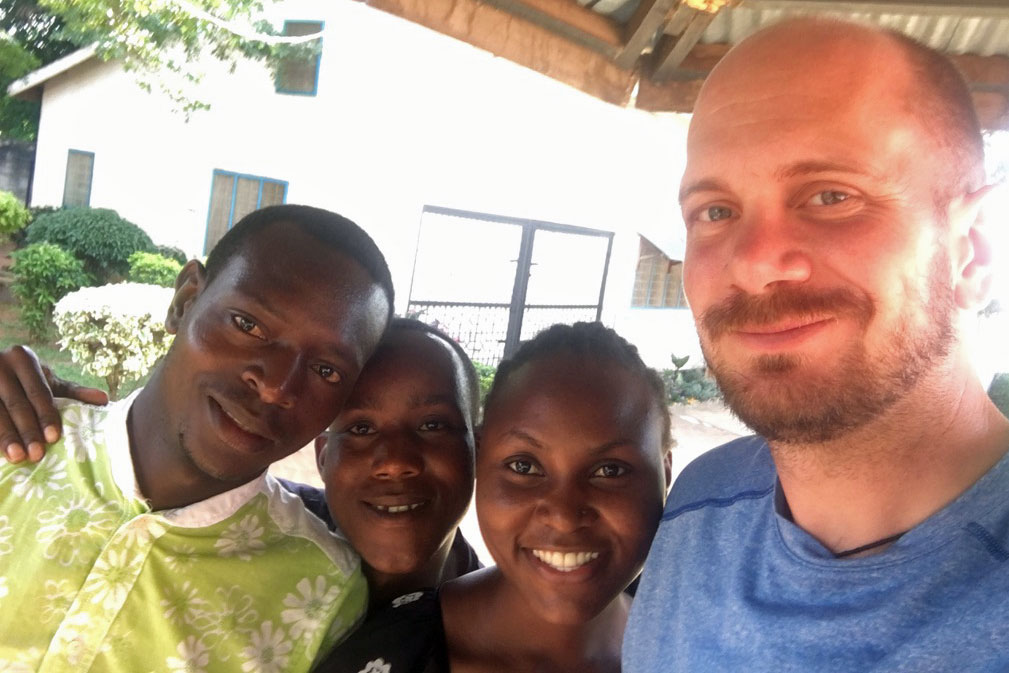 United Methodist missionary Eric Soard (r) is the founder of Wesley College in Mwanza, Tanzania. Photo courtesy Eric Soard.