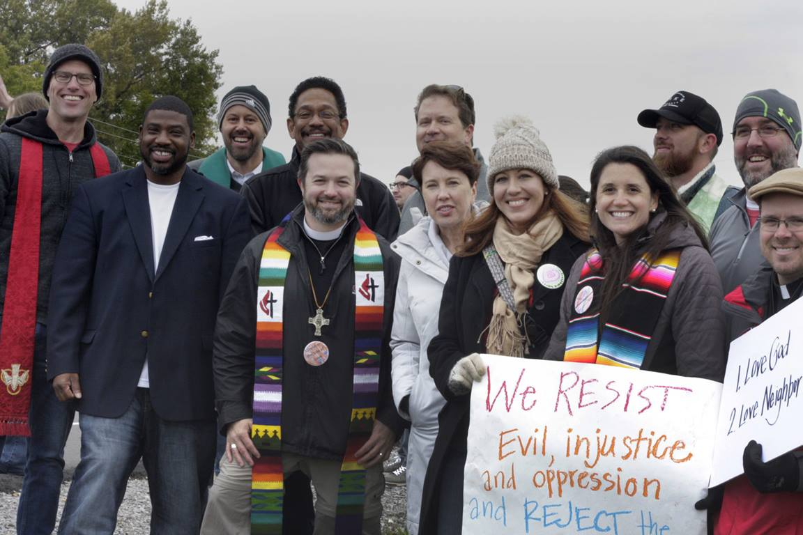 When we join the church, United Methodists vow to serve Jesus and resist the powers of this world that stand in opposition to God's love for all people. File photo by Kathy L. Gilbert, UMNS.