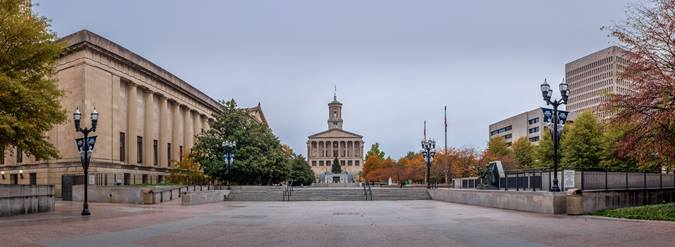 The Tennessee State Capital and offices
