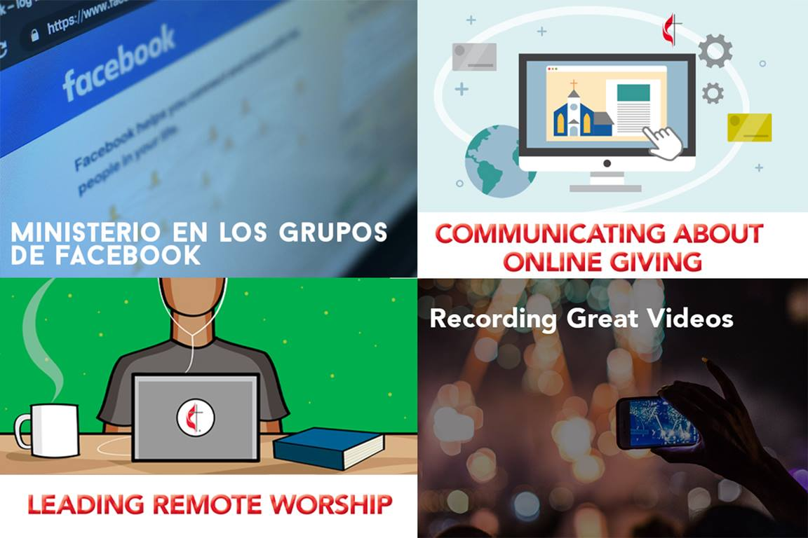 A sampling of recent United Methodist Communications training offerings. (Images courtesy of United Methodist Communications)
