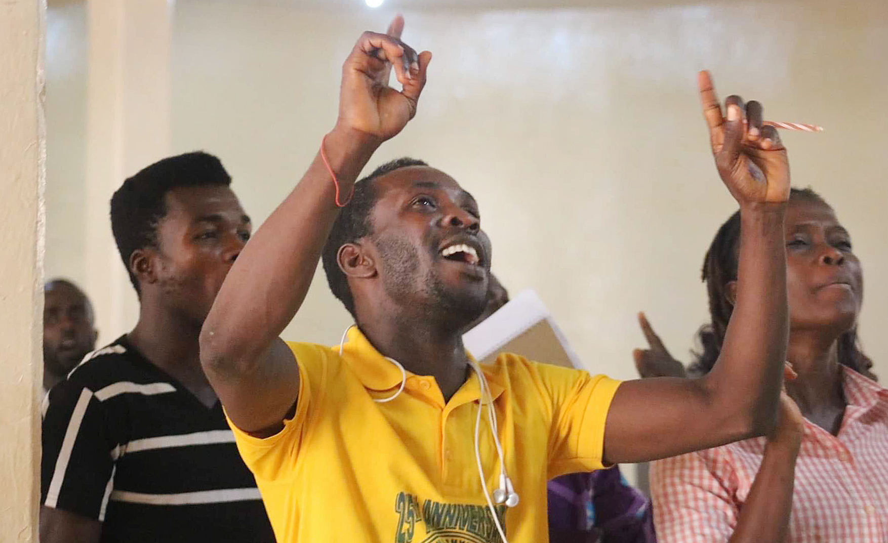 Young people sing during the Next Generation Forum in Monrovia, Liberia. The April 22 event focused on the future of young people in the church. Photo by E Julu Swen, UM News.