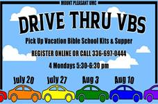 Mount Pleasant United Methodist Church offers a drive thru VBS during the COVID-19 pandemic. Photo courtesy of Mount Pleasant UMC