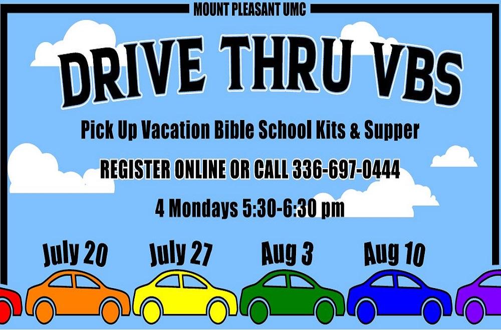 마운트플레즌트연합감리교회는 코비드-19의 대유행 기간 중 교회 주차장에 와서 차에서 즐기는 여름성경학교를 진행한다. 사진 제공: 마운트플레즌트연합감리교회