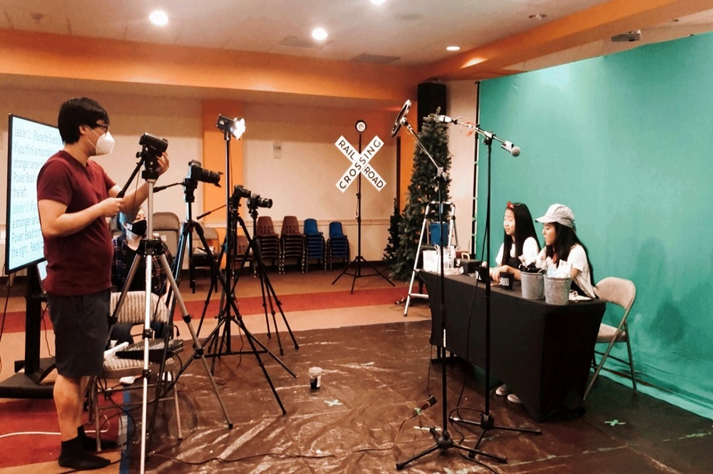 During the pandemic, Children's Ministry Initiative, which resources Korean United Methodist Churches in the United States, filmed videos for VBS curriculum to share with churches and families. Photo courtesy of Children's Ministry Initiative.
