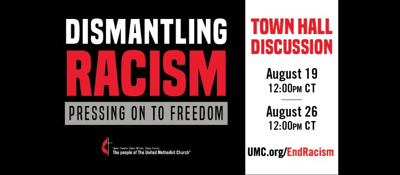 """Two new interactive town hall discussions are planned as part of the """"Dismantling Racism: Pressing on to Freedom"""" initiative. (Image courtesy of United Methodist Communications.)"""