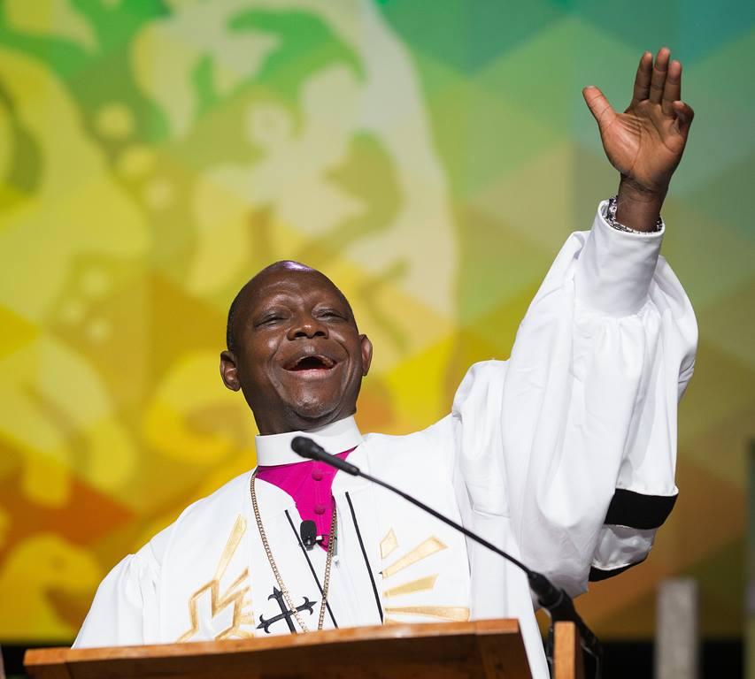 Bishop Yambasu preaching