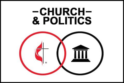 Since the Church's inception, Methodists have been actively involved in social and political matters in order to build a more peaceful and just world. Graphic by Laurens Glass, United Methodist Communications.