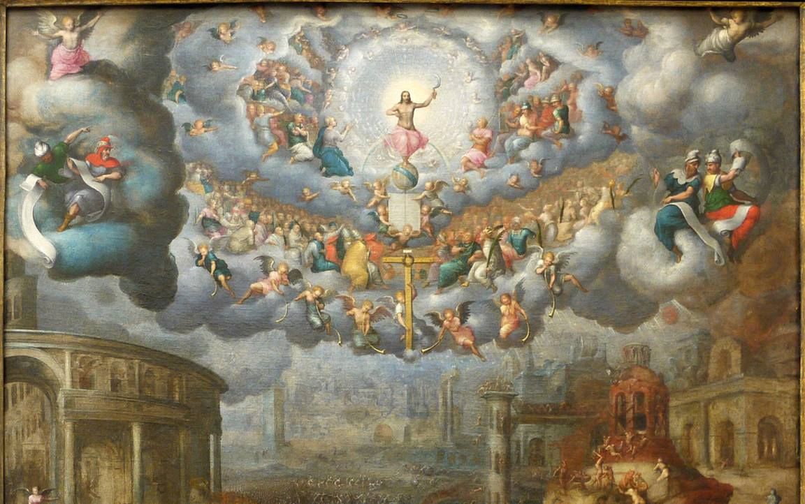 """The top portion of """"The Last Judgement"""" by French artist Jean Cousin. The 1560 painting depicts the return of Christ from heaven to earth. Image courtesy of Wikimedia Commons."""