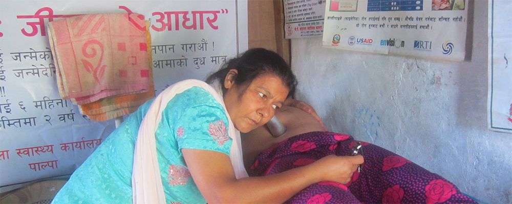 In Nepal, a woman has access to a prenatal exam conducted with care and respect early in her pregnancy. Photo: United Mission to Nepal