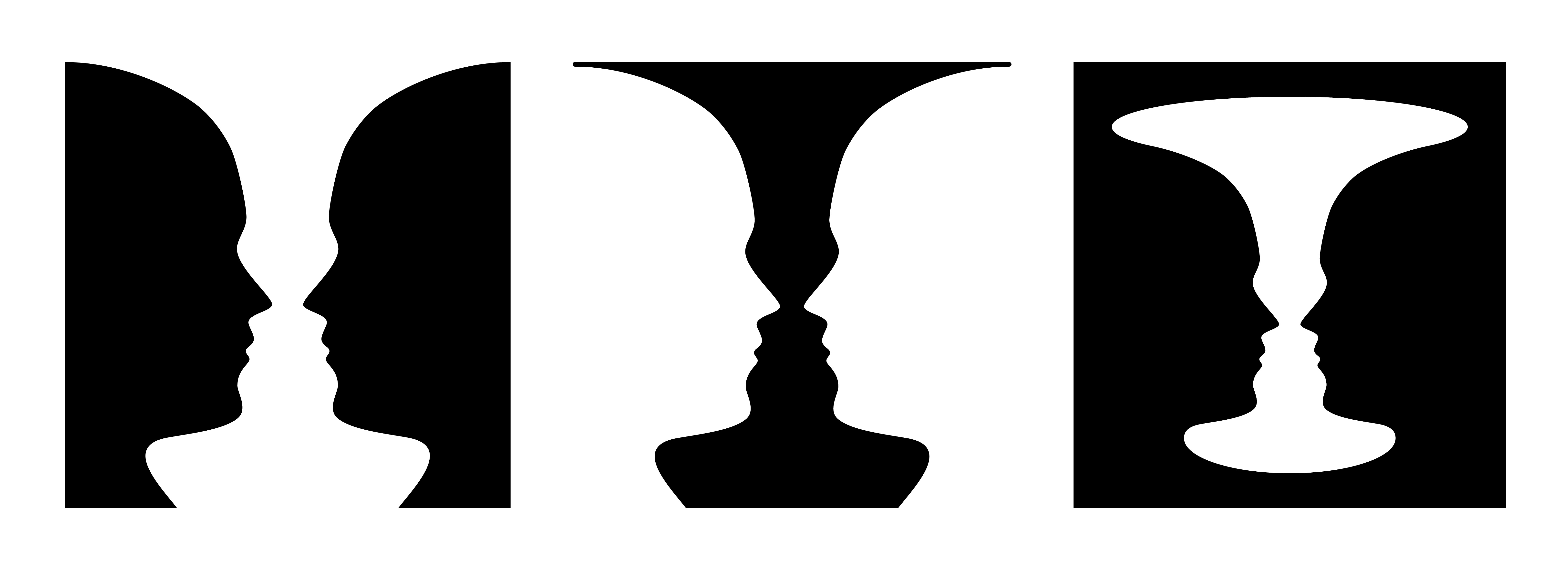 Are they faces or cups? A Gestalt image.