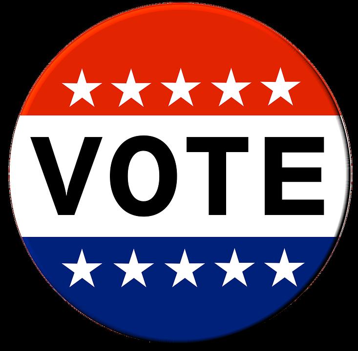 Vote sticker image by Amberzen on Pixabay.com.