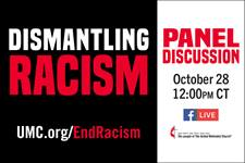 Intersectionality: Dismantling Racism Panel Discussion logo by United Methodist Communications.