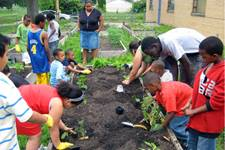 The Big Garden, founded in 2005 by United Methodist Ministries, cultivates food security by developing community gardens, creating opportunities to serve, and providing education on issues related to hunger. Photo courtesy of biggarden.org.