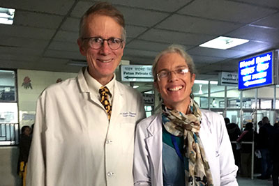 Mark and Deirdre Zimmerman are United Methodist ministries caring for the physical needs of the people of Nepal. Photo via United Methodist Global Ministries.