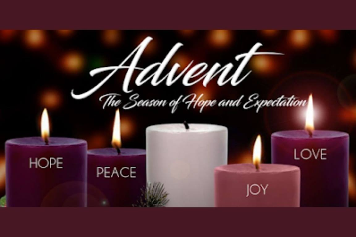 Advent candles image courtesy of the Council of Bishops.