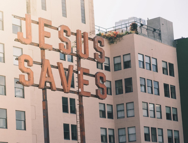 Jesus saves sign 1500x1100
