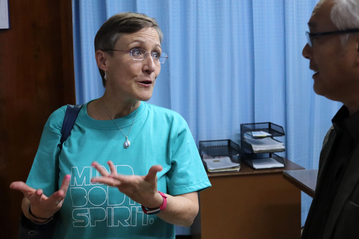 Kathleen Griffith serves the Abundant Health initiative. Photo by Jan Snider, UMCommmunications.