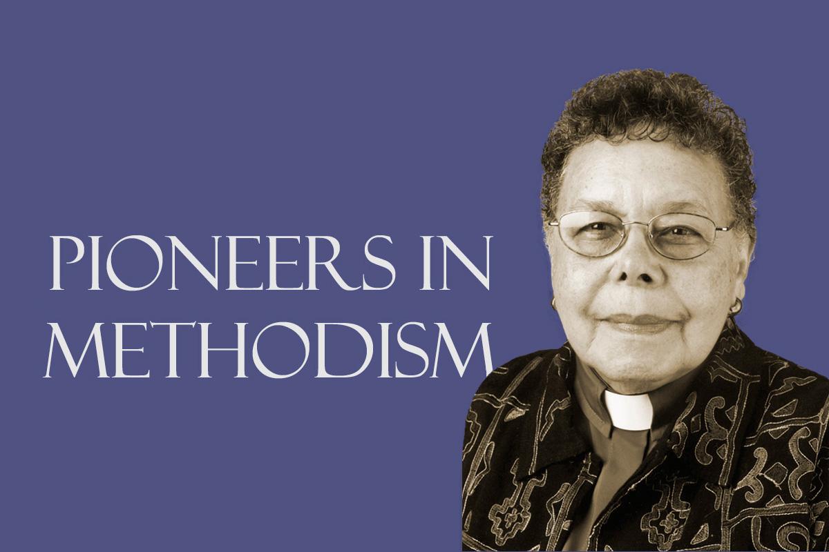 Obispa metodista unida Leontine Turpeau Current Kelly. Foto monocromática por Mike DuBose, UM News. Gráfico de Laurens Glass, Comunicaciones Metodistas Unidas.