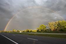A rainbow forms in the aftermath of a tornado near Poplar Bluff, Missouri. File photo by Mike DuBose, United Methodist News.