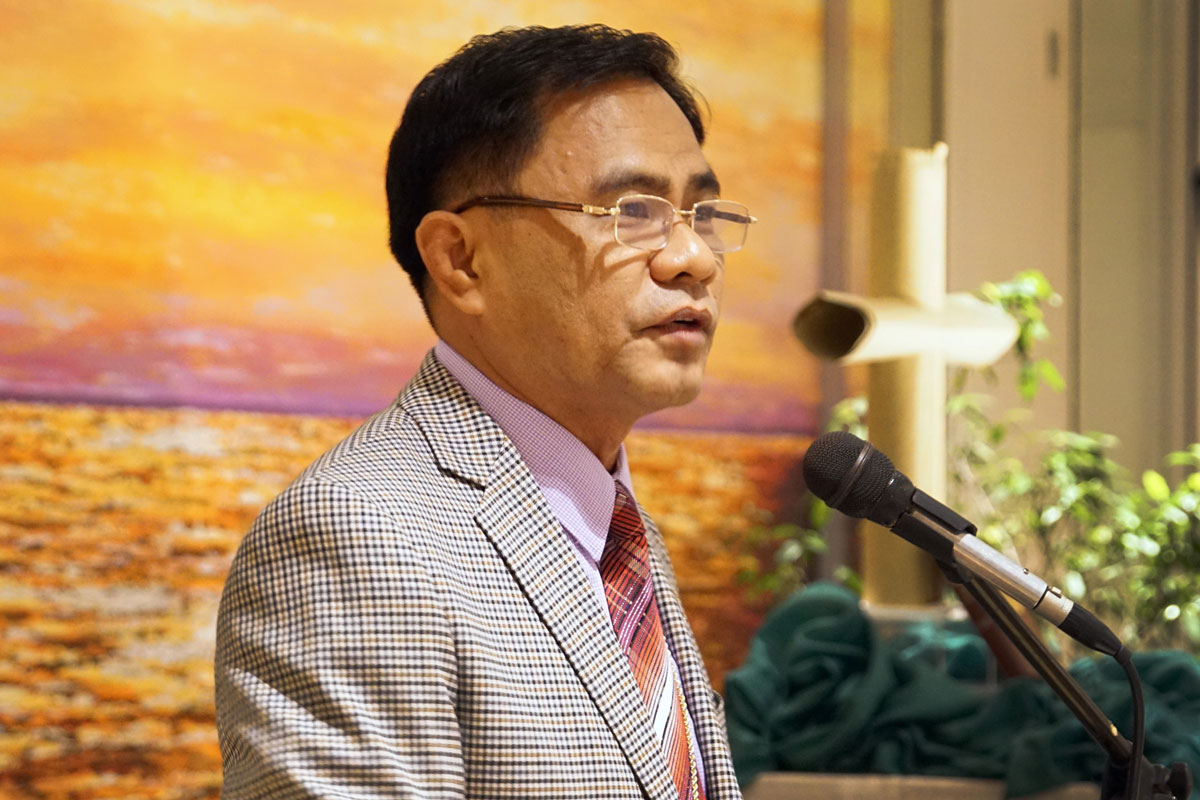 Bishop Rodolfo A. Juan is the Resident Bishop of the Davao Area, which includes Bicol Philippines, East Mindanao, Mindanao Philippines, Northwest Mindanao Philippines, and Visayas Philippines conferences in the Philippine Central Conference of The United Methodist Church.