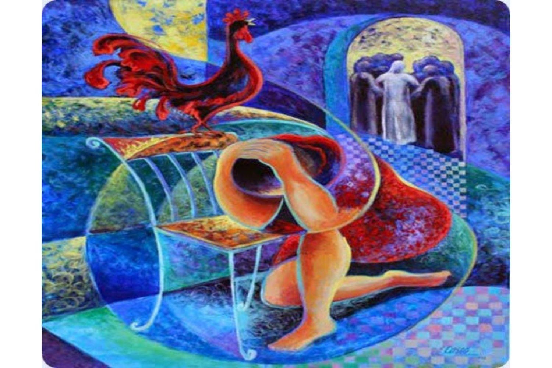 """Peter's denial"" by artist Rosana Casco"