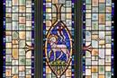 """""""Passover Lamb"""" This window is in the church of St Stephen's with St John in Westminster, photo by Fr. Lawrence Lew, O.P. shared via Creative Commons."""