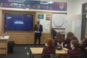 United Methodist missionary Warren Alfeche teaches students in North Ireland about homelessness in the community. Photo courtesy of Warren Alfeche.