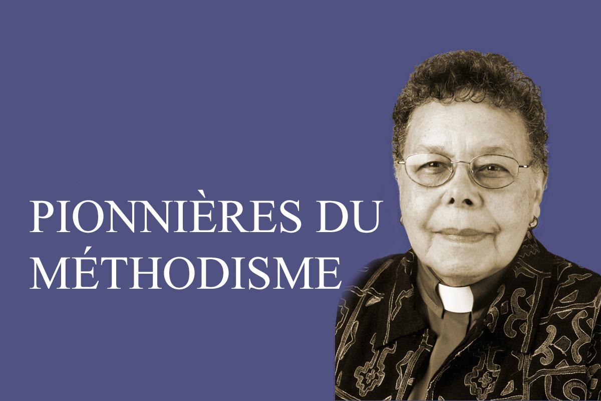 L'évêque méthodiste uni Leontine Turpeau Current Kelly. Photo sépia par Mike DuBose, UM News. Graphique de Laurens Glass, United Methodist Communications.