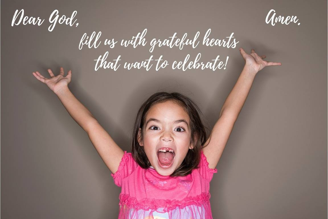 Dear God, fill us with grateful hearts that want to celebrate! Amen! Canva photo illustration by Crystal Caviness.