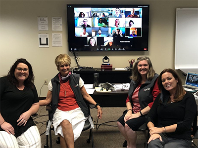 A break during the remote training of Tornado Recovery Connection case managers.