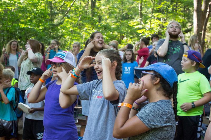 교회 캠프는 재미있다! 사진 제공, 캐트린 배리, 연합감리교회 공보부