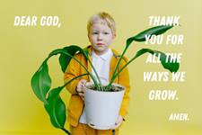 """When is a time when you noticed that you had grown? In what areas do you still hope to grow? Growing is the topic of this """"Get Them Talking"""" edition. Photo by Anna Shvets for Pexels; Canva design by United Methodist Communications."""
