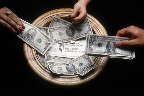 Connectional giving of The United Methodist Church funds ministries of the global denomination like disaster relief and education. Illustration by Mike DuBose, United Methodist Communications.