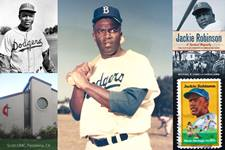 Baseball great Jackie Robinson, who helped integrate Major League Baseball, held on to his Methodist faith throughout his legendary career. Canva collage by Crystal Caviness, United Methodist Communications.