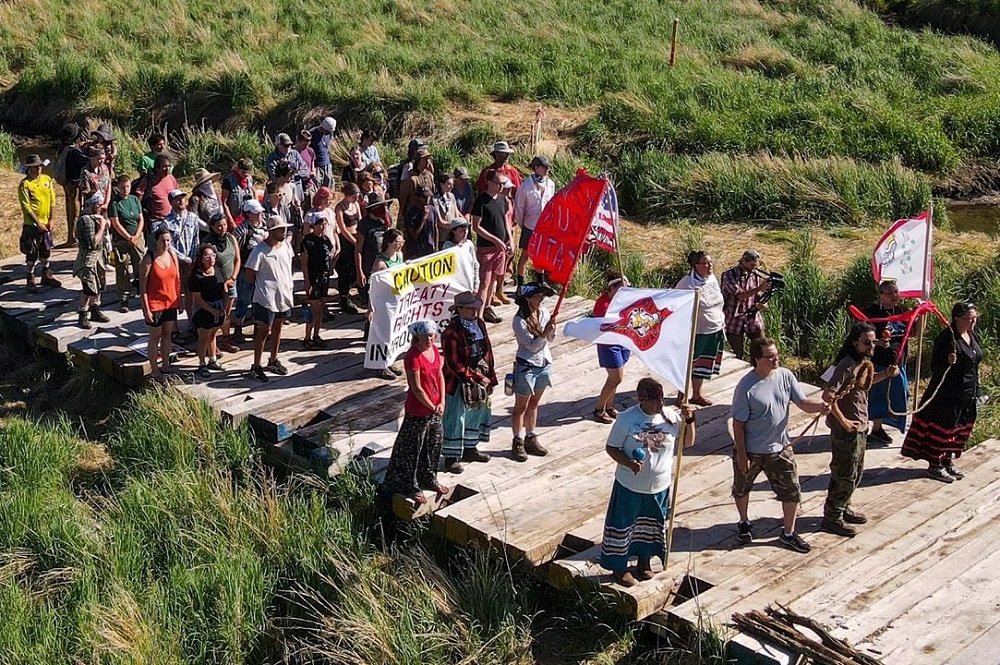 United Methodist Joe Meinholz is among those who participated in an eight-day occupation and prayer ceremony at the headwaters of the Mississippi River near Bemidji, Minnesota, to block construction of the Line 3 Tar Sands Pipeline. Photo from June 14, 2021, courtesy of Joe Meinholz.
