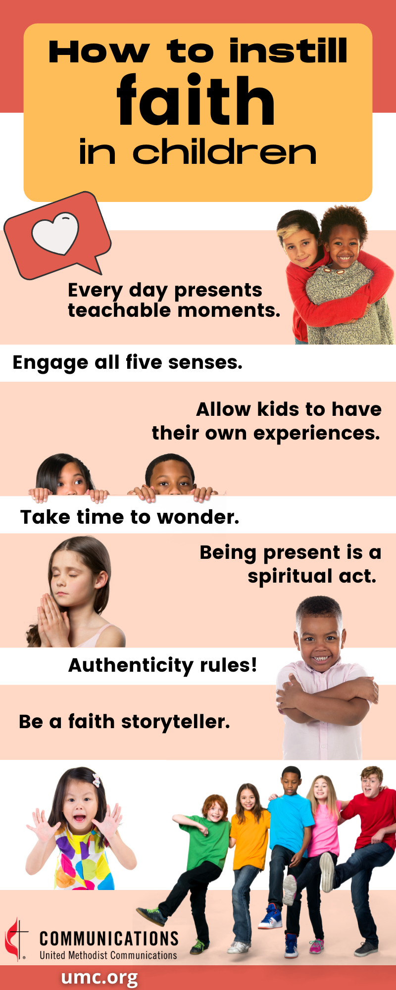 United Methodist children ministry leaders share tips for sharing faith with the kids we love. Infographic by Stacey Hagewood, United Methodist Communications.