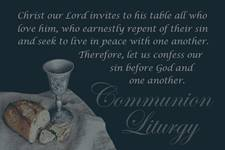 Before receiving communion, we are invited to confess and turn from a state of sin as part of the liturgy. It is only through acknowledging our sin that a process of restoration can begin. Communion elements photo by hudsoncrafted, courtesy of Pixabay; graphic by Laurens Glass, United Methodist Communications.