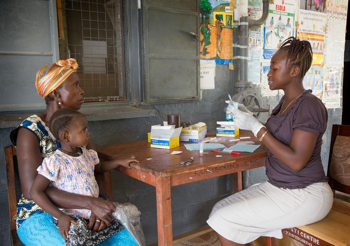 Malaria testing in Sierra Leone. Photo from United Methodist Communications