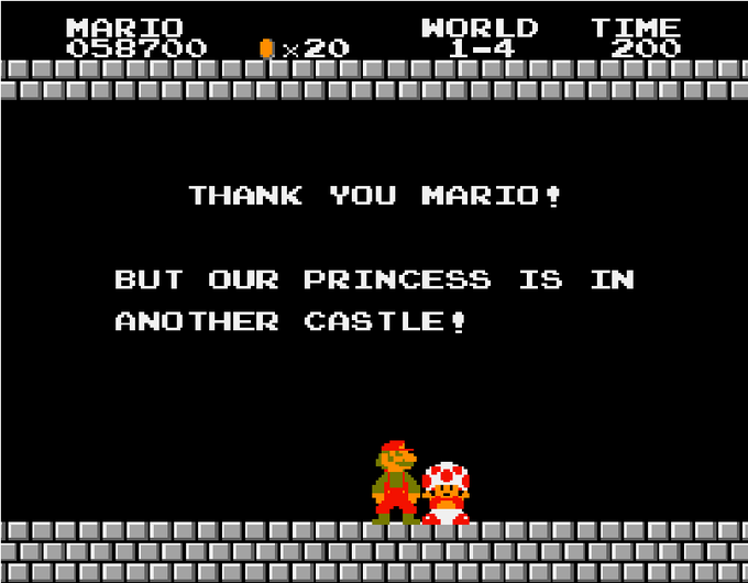 Princess is in another castle meme